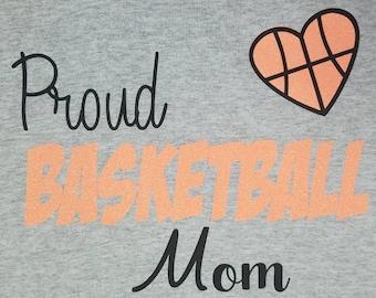 Basketball Mom t-shirt/Mom shirt/basketball shirt