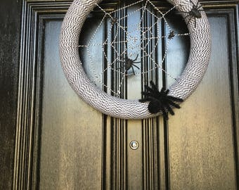 Halloween Spiderweb Wreath