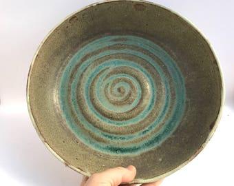 Wheel Thrown Ceramic Platter   FREE SHIPPING