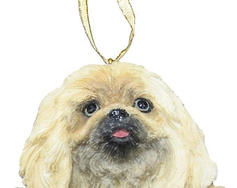 Pekingese Ornament With Personalized Name Plate A Great Gift For Pekingese Lovers