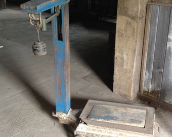 Antique Fairbanks Platform Farm Scale Industrial Weight Farmhouse