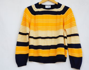 Vintage 50s-60s Women's Striped Sweater By Norton's Point/Retro/Mid Century