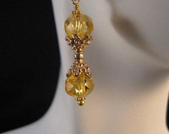 Gold Dangle Earrings, gold earrings, drop earrings, dangle earrings, CZ earrings, cubic zirconia, dangle, drop, earring, jewelry, earrings