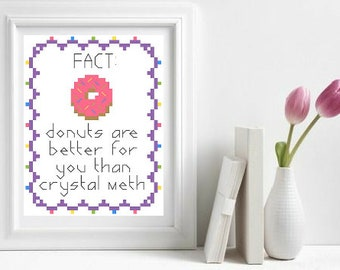 Donuts - Cross Stitch Pattern - Instant Download