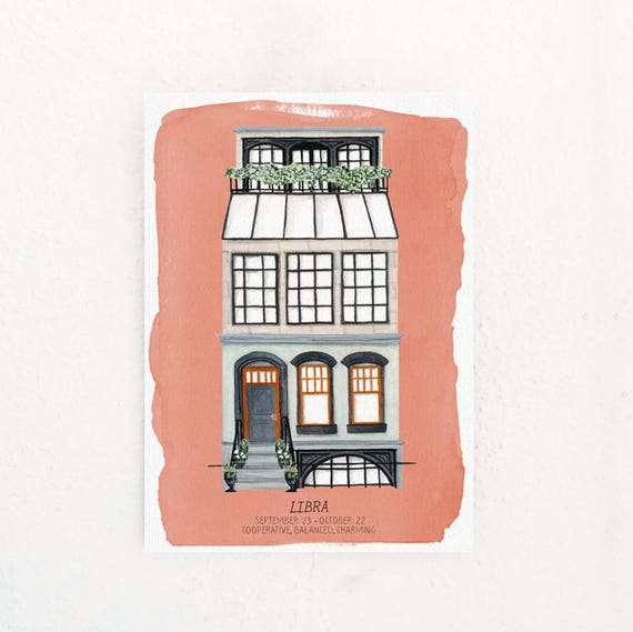 Libra Houses of the Zodiac Print