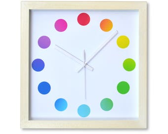 Wall Clock - Colour Spots Dial