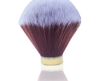 Haircut and Shave Co. 24mm 100% Synthetic Shaving Brush knot (Brown and White)