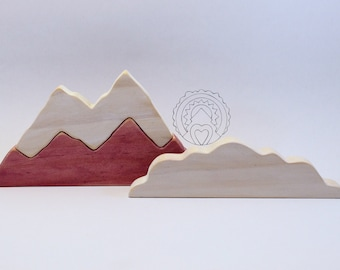 Wooden Mountain with Cloud