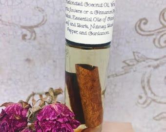 Sacral Chakra Oil - Svadhistana - Second Chakra - Essential Oil & Crystal Blend - Enhances sexual and Creative Energy - Alleviates Distrust
