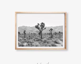 Joshua Tree Poster- Black and White Art Print, Desert Decor, Joshua Tree Wall Art, Printable Art, Desert Print, Digital Printable