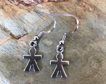 Boy charm earrings