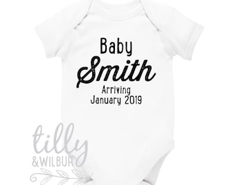 Personalised Pregnancy Announcement Bodysuit