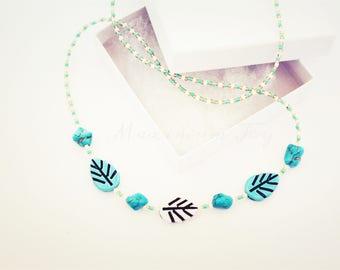 Beautiful Turquoise Leaf Necklace