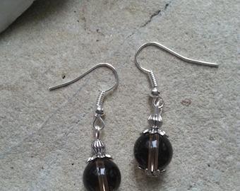 597 - smoky quartz earrings