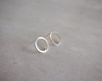 IN & OUT earrings - sterling silver/14kt solid gold- by STICKTAILS