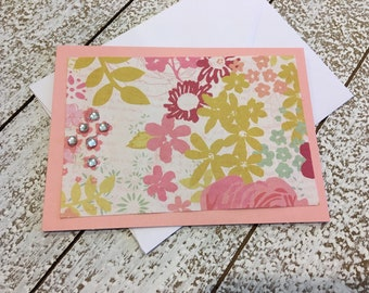 Set of Pink Floral  Cards