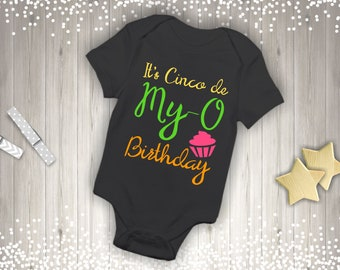 Cute It's Cinco De My-O Birthday Quote Party Mexican Infant Bodysuit
