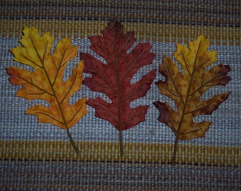 Medium fall oak leaves,6 inch single accent leaves,6/pkg,indoor use only,autumn earth tones,Fall,florals
