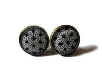 GEOMETRIC Earrings - stars Stud Earrings - Native Jewelry - minimalist - Ethnic Earrings - Aztec Earrings - Boho Earrings - japanese style