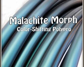 "NeW! Color-Shifting 'MALACHITE MORPH' Polypro!  3/4"" & 5/8"" OD Hoop Or Minis Set! Free Sanding Option."