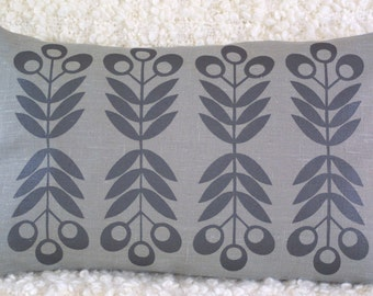 CYBER MONDAY SALE Seedhead cushion cover in Graphite Grey