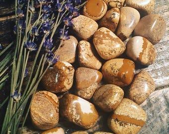 Picture Jasper, Tumbled Picture Jasper, Grounding Stones, Pucture Jasper Tumble