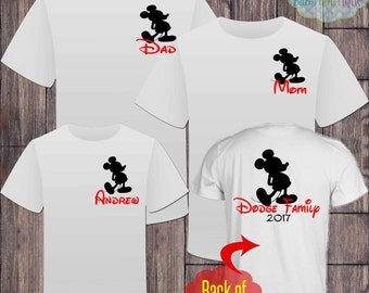 Matching Disney Family Vacation Tshirts - Mickey Mouse - Disney - Matching Vacation Shirts - Minnie Mouse