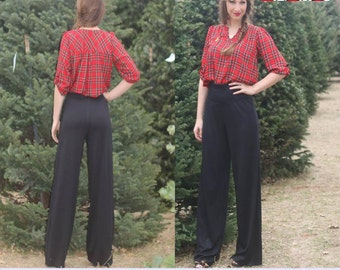 Straight Palazzos Pants, Carpirs, Shorts Sewing PDF Pattern by Patterns for Pirates Sizes XXS-XXXXL Knit, Stylish, Yoga
