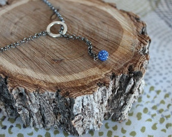 Cobalt and Blue Lariat Necklace