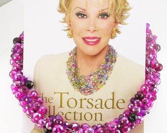 "Joan Rivers Beaded Torsade Necklace  17"""