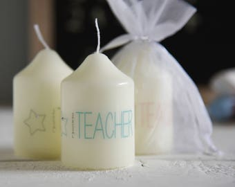 Special Teacher Candle, Teacher Gift, End of year gift, Teacher Candle, Teacher Keepsake,