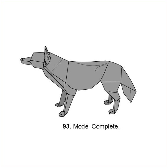 Origami Wolf Diagrams