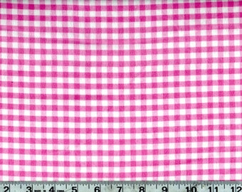 Pink Gingham Flannel by Riley Blake 1.25 Yds #135-4