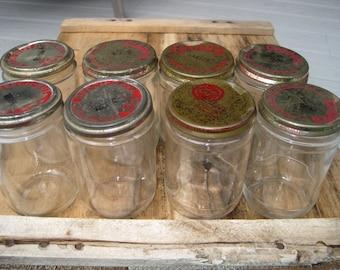 Vintage Baby Food Jars, Clapp's, Beech-nut