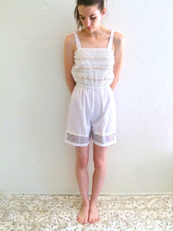 70s Lovely Little Romper