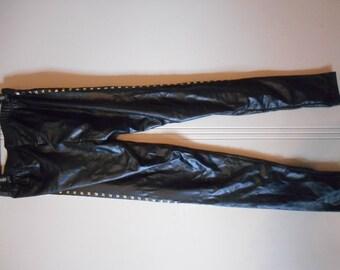 Shiny Black Spandex Leggings