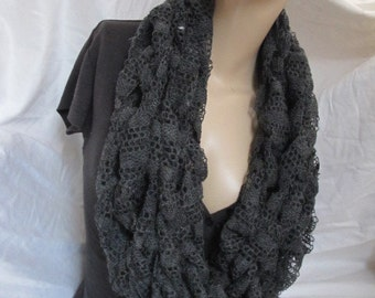 Sale - Lace Chunky Knit Infinity Scarf, Cowl, Chunky Loop Scarf, Chunky Loop Scarf, Arm Knit Cowl, Arm Knit Infinity Scarf - Assorted Colors