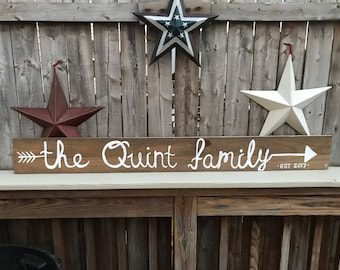 Family hand- painted signs
