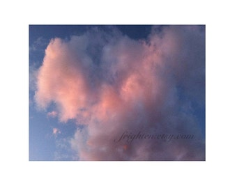 Pink Clouds Photography Print, Romantic Wall Art, Valentine's Day Decor, Nursery Decor, frighten