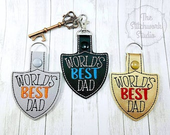 Ready To Ship! World's Best Dad Keychain - Key Fob - Father's Day