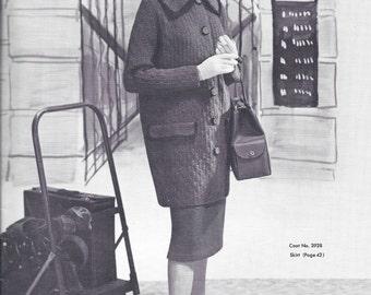 1960 Knit Coat and Skirt Set Pattern PDF