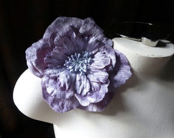 Velvet Rose Millinery Flower in Shaded Mauve Rose for Bridal, Sashes, Hats