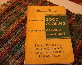 Vintage Cookbook Mad Men era Duncan Hines 1953 Adventures in Good Cooking twentyfifth printing