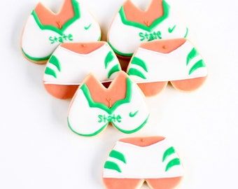 Half Dz. Cheerleader Bra and Panty Cookies! Ra Ra Sis Boom Ba!