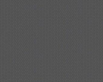 Circle Dot Charcoal by Riley Blake Designs - Dark Gray Tone on Tone Polka Dot - Quilting Cotton Fabric - choose your cut