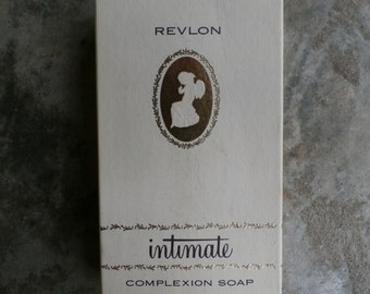 Vintage 1950s 1960s Revlon Intimate French Milled Complexion Soap Boxed Set of 3