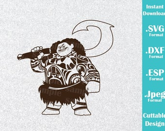 INSTANT DOWNLOAD SVG Disney Inspired Maui Moana Movie for Cutting Machines Svg, Esp, Dxf and Jpeg Format Cricut Silhouette
