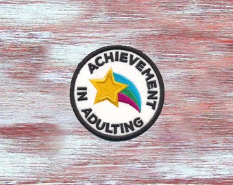 Leistung In Adulting Nähen auf Patch-bestickt lustige Patch-Leistung In Adulting-Statement-Patch