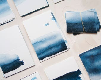 Digitally Printed Blue Watercolor Placecards!