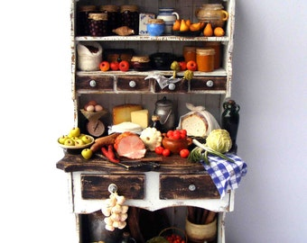 Filled pantry cupboard